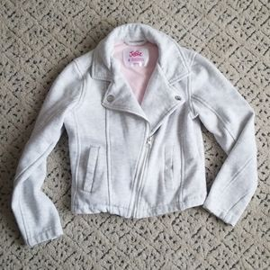 JACKET BY JUSTICE MOTORCYCLE STYLE STRETCHY SIZE 8